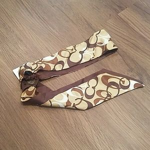 COACH Silk headwrap